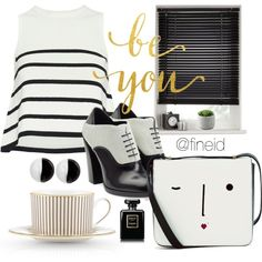 Designer Clothes, Shoes & Bags for Women Lulu Guinness, Jil Sander, Chanel, Black And White, Polyvore, Stuff To Buy, Outfits, Design, Women