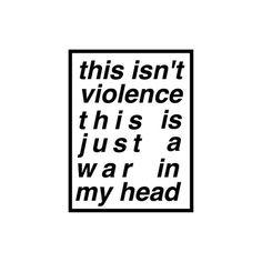 I hate the fucking war Inside my fucking head. #grunge #softgrunge #sad #alone #war