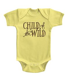 Love this Banana Wild Child Bodysuit - Infant by American Classics on #zulily! #zulilyfinds
