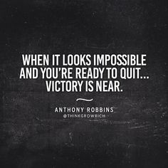 Look for the signs that victory is near