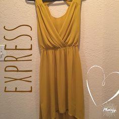 Express gold flowy dress Express dress Express Dresses Midi