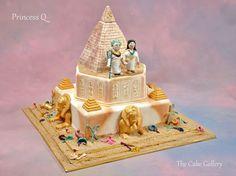 Wedding Cake Photos | The Cake Gallery Omaha. pyramid, Egyptian theme with gold cake