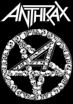 Anthrax by Rafal Wechterowicz - rock music poster, skulls, psychedelic ☮~ღ~*~*✿⊱╮  レ o √ 乇 !!