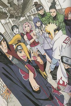 Masashi Kishimoto, Naruto, Iruka Umino, Deidara, Shikamaru Nara