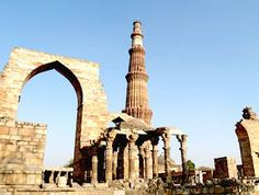 The Qutab Minar built by the Delhi Sultanate ruler Qutab-ud-Din Aibak is a monument of his victory