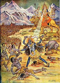 'My favorite event from Hindu history is when Maa Durga unleashes Maa Kali. I don't think Adharma has ever been more terrified. Always remember: There are no pacts between Dharma and Adharma. Durga Kali, Saraswati Goddess, Kali Mata, Kali Goddess, Shiva Shakti, Shiva Hindu, Mother Goddess, Carlos Castaneda, Mother Kali