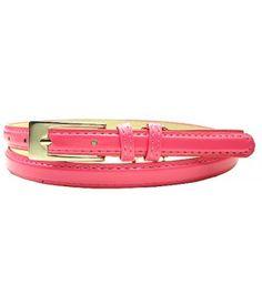 "0.5"" Wide Pink Narrow Dress Lady's Belt"