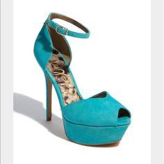 Sam Edelman 'Marina' Pump In Turquoise Size 8.5