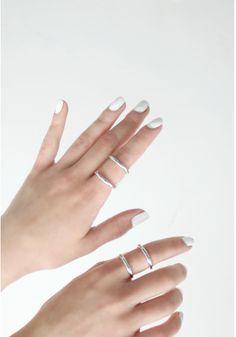 White Nails #makeup #beauty #white #nails