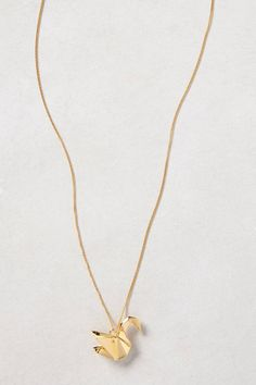 Origami Swan Necklace By Origami Jewellery | 14k gold plated sterling silver
