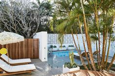 New plunge pool and poolside relaxation space