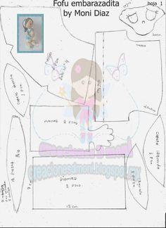moldes de fofucha embarazada (1) Moldes Para Baby Shower, Foam Sheet Crafts, Baby Shower Crafts, Coloring Book Art, Baby Shawer, Foam Sheets, Ideas Para Fiestas, Sewing Dolls, Cold Porcelain