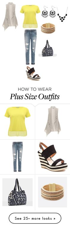 """#PlusSize"" by joyfulsoul20 on Polyvore featuring French Blu, Joe's Jeans, M&Co, Avenue and MANGO"