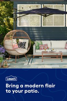 Bring a personal touch to your outdoor space with a variety of stylish patio options at Lowe's.  Backyard Seating, Backyard Patio Designs, Diy Patio, Patio Ideas, Outside Living, Outdoor Living, Outdoor Spaces, Outdoor Decor, Backyard Makeover