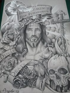 For we know that since Christ was raised from the dead, he cannot die again; death no longer has mastery over him.          Romans 6:9          by Ray Angulo   rayangulotattoo