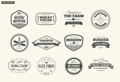 Set of original and unique modern retro and modern vintage labels designed for wide range of uses. Suitable for retro logo or label, poster, flyer or sticker, packaging product design, t-shirt design and apparel.