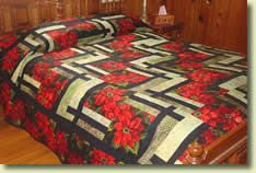 bq quilt patterns | Poinsettia Quilt - BQ2 Quilt Pattern