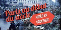 Voici une vidéo incroyable de Paris au début du siècle ! Des images en couleurs à découvrir absolument. Les calèches dans les rues, les premiers métros...