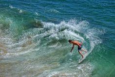 Skim Board Surfer