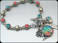 Tree of Life Bracelet. Tree Jewelry, Tree Charm   by BlackberryDesigns, $67.00
