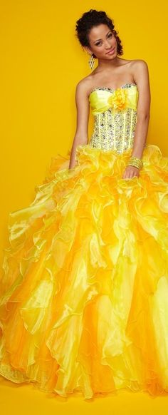 Yellow couture
