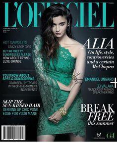 Alia Bhatt Sizzle on Cover of L'Officiel Magazine India - May 2014 V Magazine, Fashion Magazine Cover, Magazine Covers, Magazine Design, Indian Celebrities, Bollywood Celebrities, Bollywood Actress, Bollywood Heroine, Bollywood Photos
