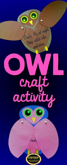 """Cute and easy owl craft. Great for a fall bulletin board """"Guess Whoooo's Ready for Fall!"""" $4.25"""