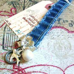 UpCycled Jeans Bracelet Vintage RePurposed Jewelry. 21.00, via Etsy.