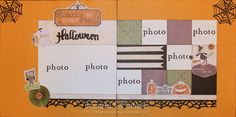 Scaring Up Some Fun Scrapbook Layout by Pamela O'Connor using CTMH Moonlight