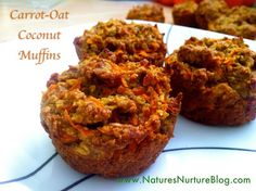 Carrot-Oat Coconut Muffins soooo yummy with honey cream cheese. A friend made these for me and they were Delish!