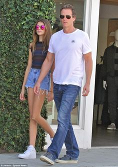 Father-daughter time: Rande Gerber and his daughter Kaia was spotted shopping in Malibu on Saturday