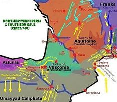 Duchy of Aquitaine - after the Battle of Poitiers (734–743)