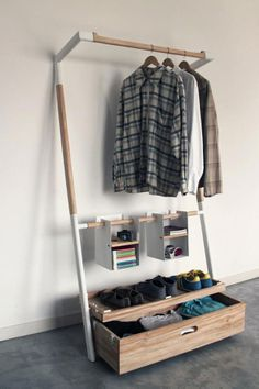 Minimalist wardrobe - Imgur Design that naturally and gently imposes limits, especially as overcrowding it would feel wrong. Lovely!