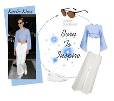 """""""Karlie Kloss's lesson of style"""" by smartbuyglasses ❤ liked on Polyvore featuring adidas, CÉLINE, karliekloss, CelebrityStyle, RosieAssoulin and Vuarnet"""