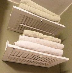 shutter shelves: