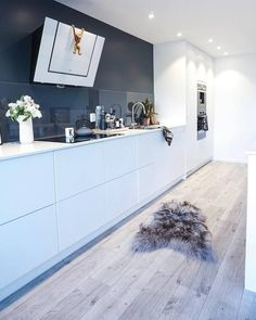 Open Plan Kitchen Living Room, Kitchen Room Design, Home Decor Kitchen, Home Kitchens, Kitchen Cabinet Interior, Cuisines Design, Interior Design Living Room, Kitchen Remodel, Sweet Home