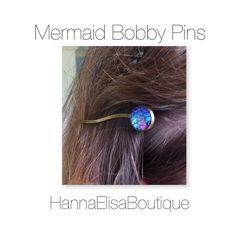 Mermaid bobbypins mermaidscale bobbypins door HannaElisaBoutique