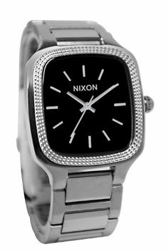 Nixon Shelley Watch - Women's Black, One Size by NIXON. $120.99. The Nixon Shelley Women's Watch has an elegant and timeless look that complements any formal outfit. And if you become really attached to it, it's water-resistant up to 100 meters so you can look classy even when you're chilling by the pool.Product FeaturesHousing Material: stainless steelStrap Material: stainless steelHeart Rate Monitor: Digital Compass: Chronograph: Backlight: Computer Compatible: ...