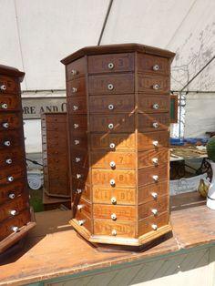 c1903 AMERICAN antique bolt & SCREW octagonal hardware store cabinet 80 drawer #CLASSIChardwarecountrystoreFIXTURES #USA