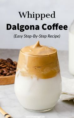 Dalgona Whipped Coffee Recipe (Step-By-Step) – Wow, It's Veggie? Dalgona Whipped Coffee Recipe With Step By Step Photos Coffee Recipes, Brunch Recipes, Dessert Recipes, Drink Recipes, Coffee Tasting, Iced Coffee, Coffee Club, Coffee Creamer, Coffee Shops