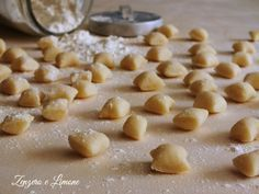 Gnocchetti with water and sauce Ravioli, Gnocchi Pasta, Fall Recipes, Vegan Recipes, My Favorite Food, Favorite Recipes, Gnocchi Recipes, Easy Cooking, Diy Food