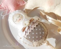 Rose Fairy with pink star  hanging decor for by bynaturalmente