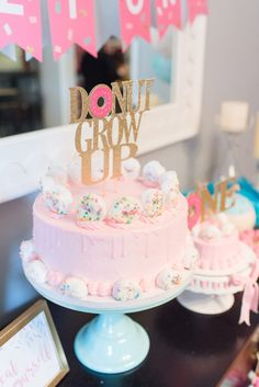 Donut Grow Up First Birthday! - Project Nursery - ChristiCreations-Birthday Outfits -Etsy - Donut Grow Up First Birthday! - Project Nursery Cutest donut birthday cake ever! >> Donut Grow Up! Donut Party, Donut Birthday Parties, Donut Birthday Cakes, Birthday Ideas, Donut Cakes, Birthday Activities, Birthday Photos, Family Activities, Bday Girl