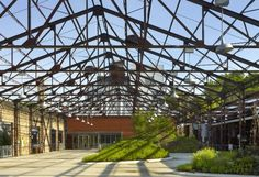 Old brick factory transformed into the HQ for Evergreen Foundation in Toronto