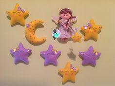 #lunapannolenci #lunastelle #pannolenci Decorazione per cameretta pannolenci Fiocco nascita  www.facenook.com/c.RobertArt