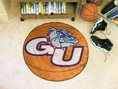 "Gonzaga Basketball Mat 27"" diameter"