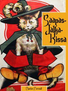 Saapasjalkakissa Grimm, Ikon, Kindergarten, Nostalgia, Gardening, Books, Vintage, Libros, Garten