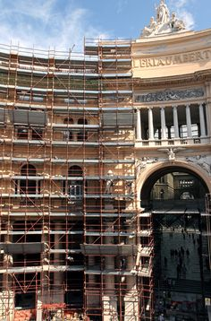 Our work in progress:  restoration project in Galleria Umberto I, Naples / www.graphitearchitecture.com