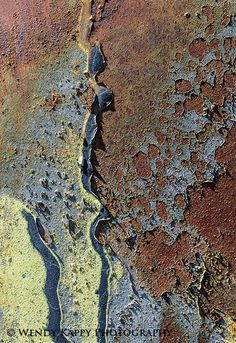 Rust | さび | Rouille | ржавчина | Ruggine | Herrumbre | Chip | Decay | Metal | Corrosion | Tarnish | Texture | Colors | Contrast | Patina | Decay | Salvage Yard Abstract IV:
