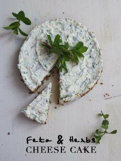 Feta and Herbs cheese cake Lime Cream, Feta, Cheesecake, Herbs, Cheesecakes, Herb, Cherry Cheesecake Shooters, Medicinal Plants